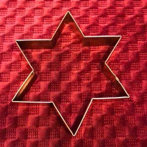 """5 1/2"""" Copper Star of David cookie cutter"""